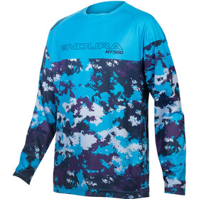 Endura MT500JR LS Jersey Kids, electric blue